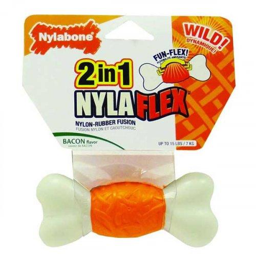 Nylabone NylaFlex - кость Нилабон со вкусом бекона для собак с умеренным стилем грызения