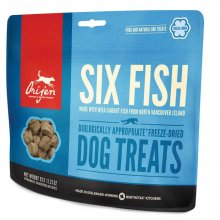 Orijen Six Fish Dog Treats - лакомство Ориджен с рыбой для собак