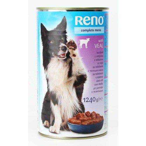 Reno - консервы Рено с телятиной для собак