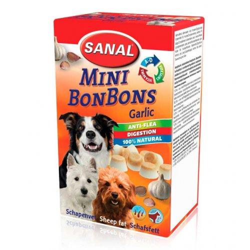 Sanal Dog Mini Sheepfat Bonbons Garlic - витаминизированная добавка Санал с чесноком