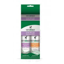 Vets Best Ear Relief Wash & Dry - набор Вэт Бест для очистки и подсушивания ушей собак