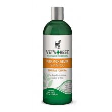 Vets Best Flea Itch Relief Shampoo - успокаивающий шампунь Вэт Бест для собак при зуде