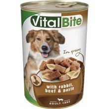 VitalBite - консервы ВиталБит с кроликом, говядиной и макаронами для собак