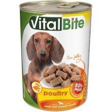 VitalBite - консервы ВиталБит с птицей в желе для собак