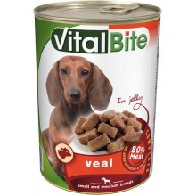 VitalBite - консервы ВиталБит с телятиной в желе для собак