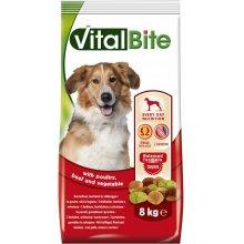 VitalBite - корм ВиталБит с птицей, говядиной и овощами для собак
