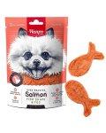 Wanpy Salmon Fish Shape Bites - лакомство Ванпи рыбки с лососем для собак