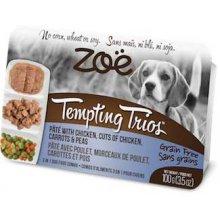 Zoe Tempting Trions - паштет Зои из курицы с кусочками курицы, моркови и гороха для собак