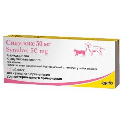 Zoetis Synulox - таблетки Зоэтис Синулокс для собак и кошек