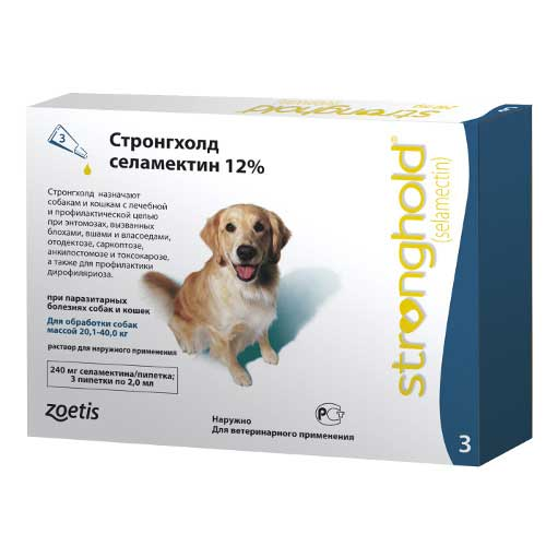 Zoetis Stronghold - капли Стронгхолд в пипетках для собак