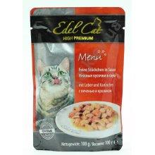 Edel Cat - паучи Эдель, нежные кусочки в соусе, с печенью и кроликом