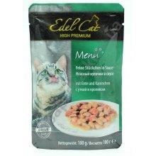 Edel Cat - паучи Эдель, нежные кусочки в соусе, с уткой и кроликом