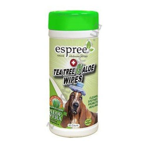 Espree Tea Tree and Aloe Healing Wipes - салфетки Espree для заживления ран