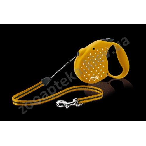 Flexi Dots Small - поводок-рулетка Флекси для собак весом до 12 кг
