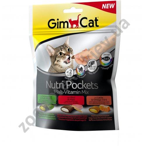 Gimpet Nutri Pockets Malt-Vitamin Mix - мультивитаминное лакомство Джимкет для кошек