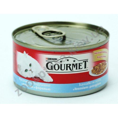 Gourmet Red - корм Гурмет кусочки в подливке с лососем и форелью для кошек