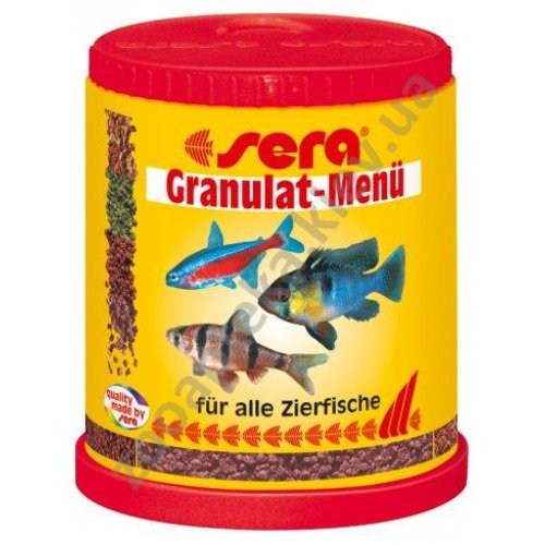 Sera Granulat-Menu - гранулированный корм Сера для аквариумов со смешанным сообществом рыб