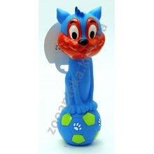 Pet Impex - гантель резиновая Пет Импекс с кошачьей головой для собак