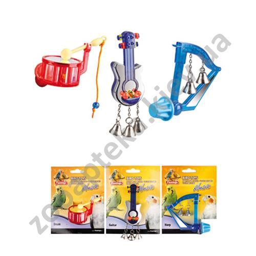 Karlie-Flamingo Bird Toy Music - игрушки с колокольчиками Карли-Фламинго для птиц