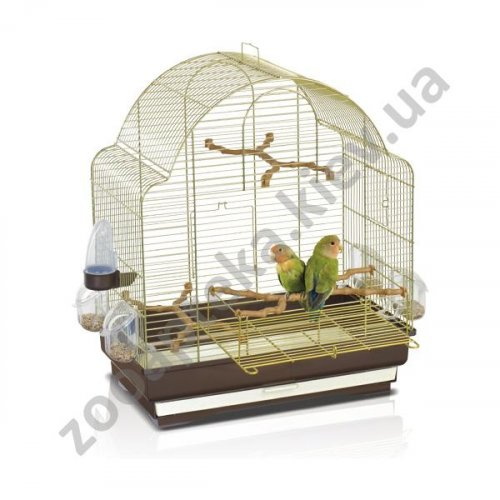 Imac Elisa - клетка Аймак Элиса для средних попугаев, пластик, латунь