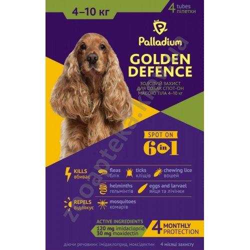 Palladium Golden Defence - капли Палладиум от паразитов для собак малых пород