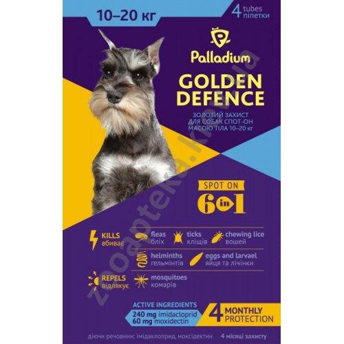 Palladium Golden Defence - капли Палладиум от паразитов для собак средних пород
