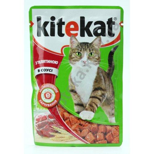 Kitekat - консервы Китекет с телятиной в соусе