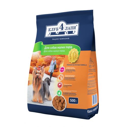 Клуб 4 Лапы корм для взрослых собак мелких пород