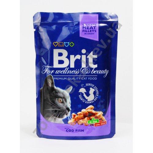 Brit Premium Cat - корм Брит с треской для кошек