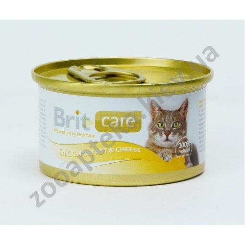 Brit Care - корм Брит с куриной грудкой и сыром для кошек