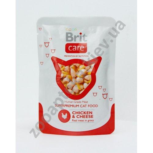 Brit Care - корм Брит с курицей и сыром в соусе для кошек
