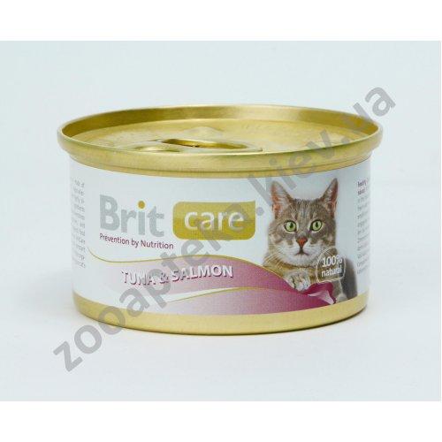 Brit Care - корм Брит с тунцом и лососем для кошек