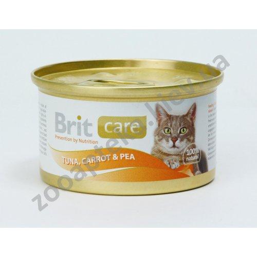 Brit Care - корм Брит тунец, морковь и горошек для кошек