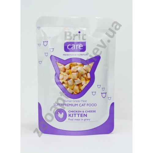 Brit Care - корм Брит с курицей и сыром в соусе для котят