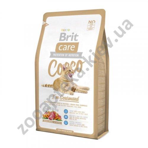 Brit Care Coco Gourmand - корм Брит с уткой и лососем для кошек с чувствительным пищеварением