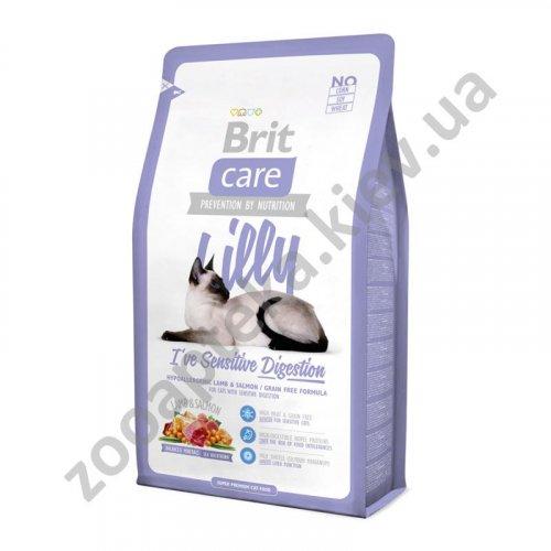 Brit Care Lilly Sensitive - корм Брит с ягненком и лососем для кошек с чувствительным пищеварением
