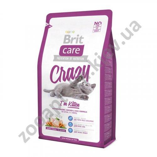 Brit Care Crazy Kitten - корм Брит с курицей и рисом для котят