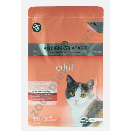 Arden Grange Adult Cat Fresh Salmon & Potato - корм Арден Грендж с лососем и картофелем