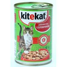 Kitekat - консервы Китекет с говядиной для кошек