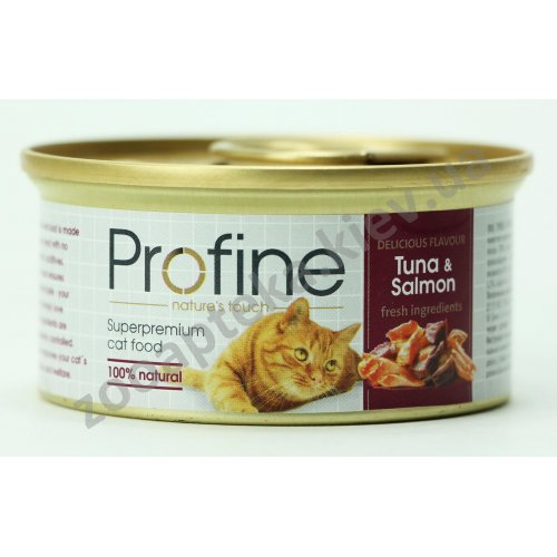 Profine - консервы для кошек Профайн, с тунцом и лососем