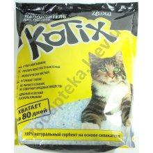 Kotix - силикагелевый наполнитель Котикс для кошачьего туалета