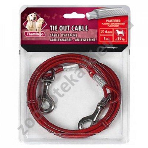 Karlie-Flamingo Tie Out Cable - поводок кабельный Карли-Фламинго для собак