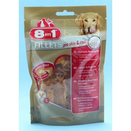 8 in1 Fillets Pro Skin & Coat - куриное филе 8 в 1 для блеска шерсти