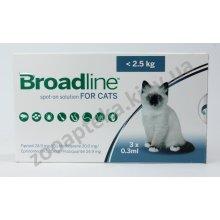 Merial Broadline - капли Бродлайн от блох и клещей для кошек