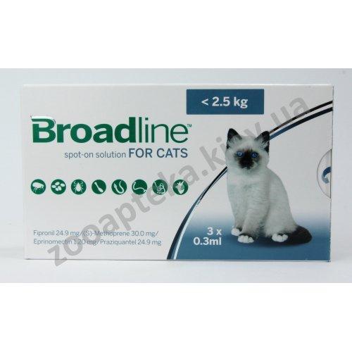 Merial Broadline - капли Бродлайн от блох, клещей и глистов для кошек