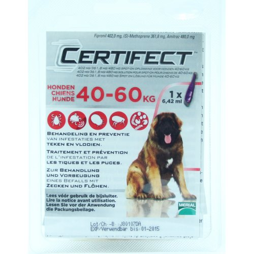 Merial Certifect - капли от блох и клещей Сертифект для собак
