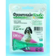 Merial FrontLine Combo - защита от блох и клещей Мериал Фронтлайн Комбо, капли на холку для собак
