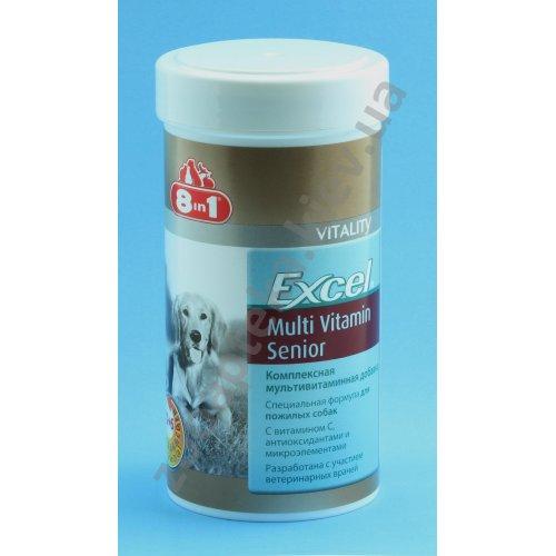 8 in 1 Excel Multi Vitamin Senior - мульти витаминная добавка 8 в 1 для собак старше 7 лет