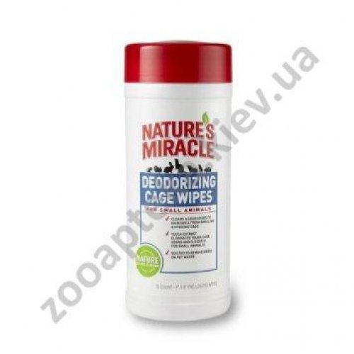 8 in 1 Natures Protection Deodorizing Cage Wipes - салфетки для чистки клеток 8 в 1