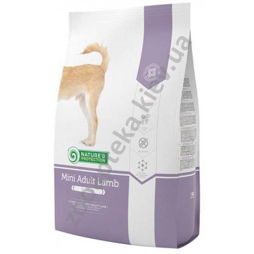Natures Protection Mini Adult Lamb - корм Нейчерс Протекшн для мелких собак, с ягненком